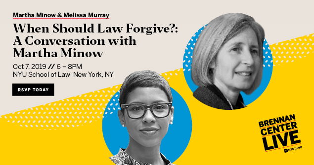 When Should Law Forgive?: A Conversation with Martha Minow