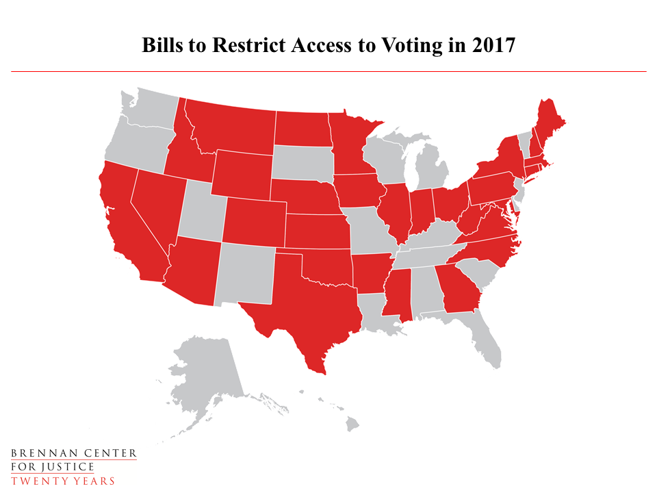 Voting Laws Roundup 2017  Brennan Center for Justice
