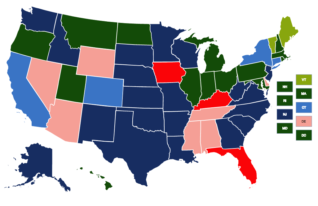 featured map criminal disenfranchisement laws across the united states