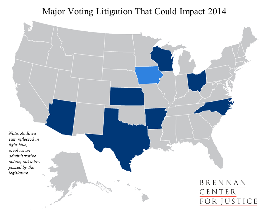 Major Voting Litigation 2014