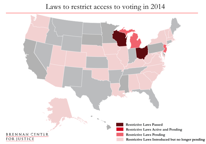 Voting Laws Roundup Brennan Center For Justice - Map of voter id laws in the us