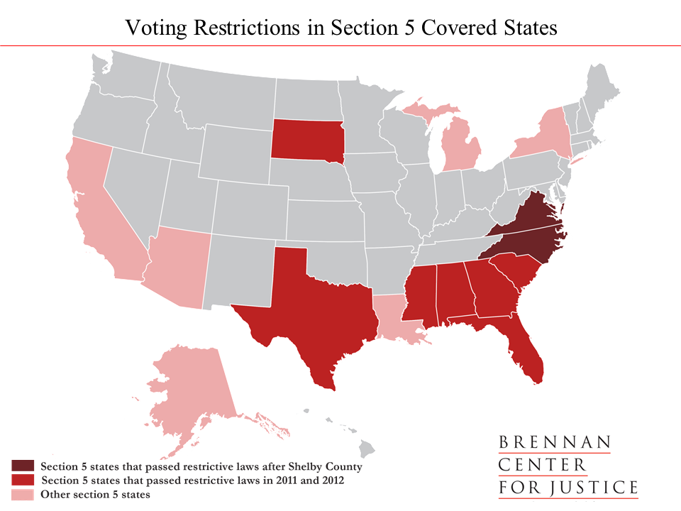 Shelby County One Year Later Brennan Center For Justice - Map of voter id laws in the us