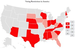 Map Of America Voting.Restricting The Vote Brennan Center For Justice