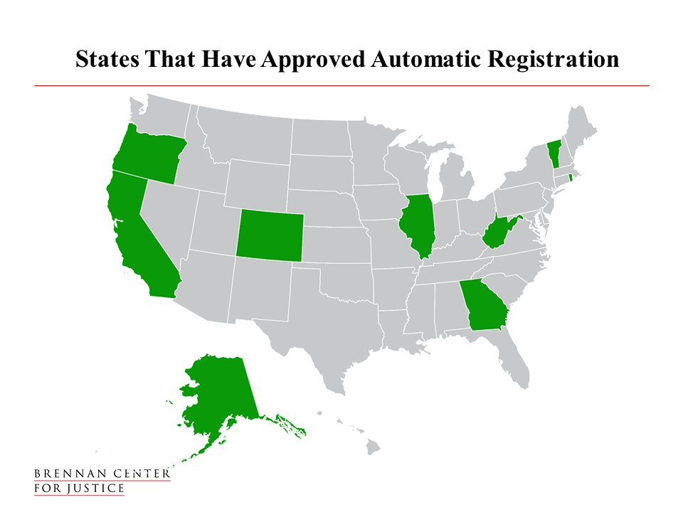 Automatic voter registration brennan center for justice in february 2016 outgoing president barack obama called on legislators to make automatic voter registration the new norm across america sciox Choice Image