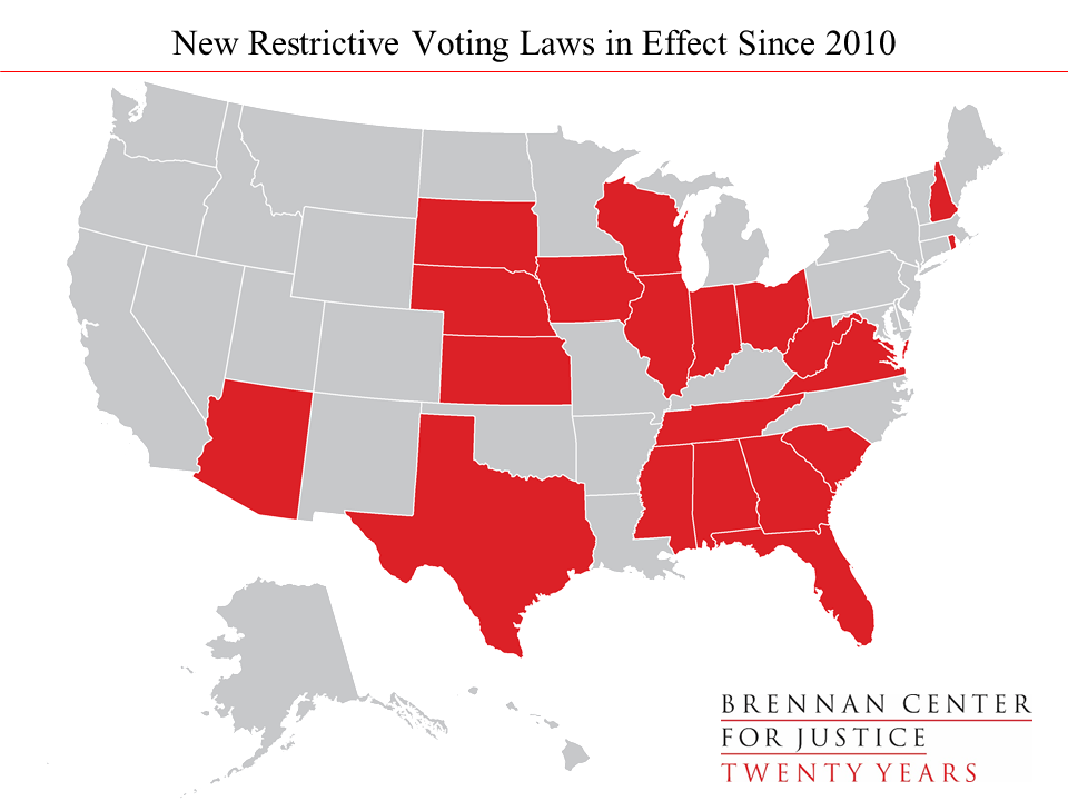 Election 2016 Restrictive Voting Laws By The Numbers Brennan