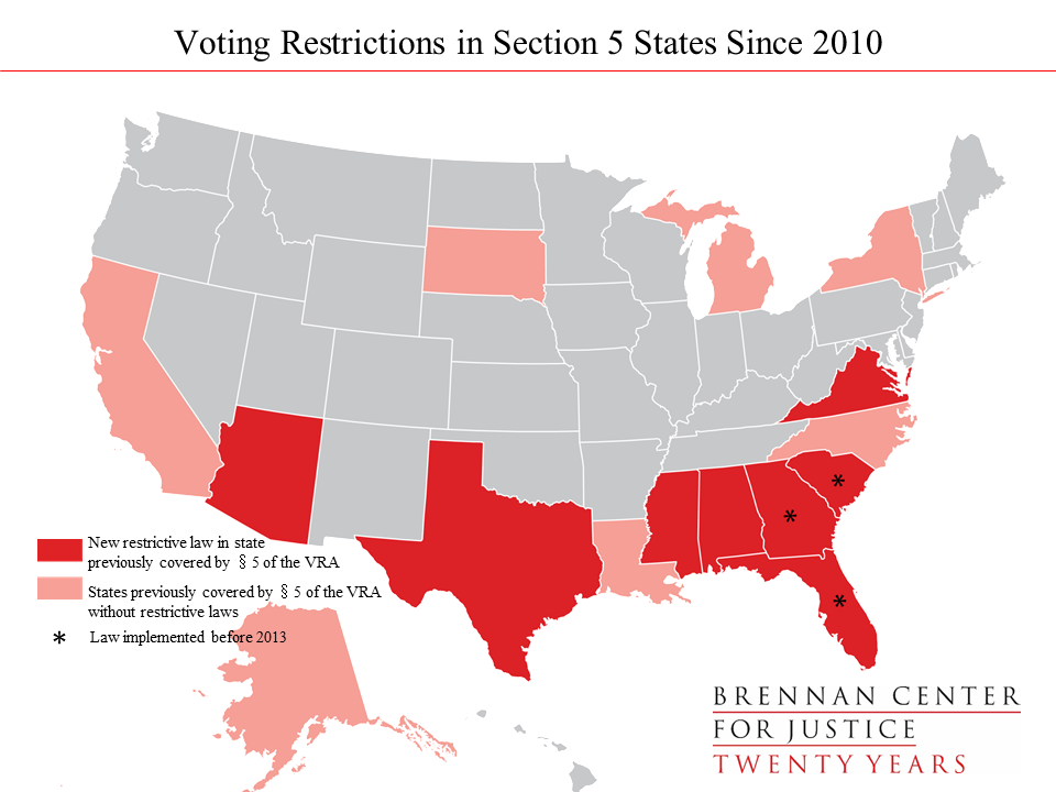 Election 2016: Restrictive Voting Laws by the Numbers | Brennan ...