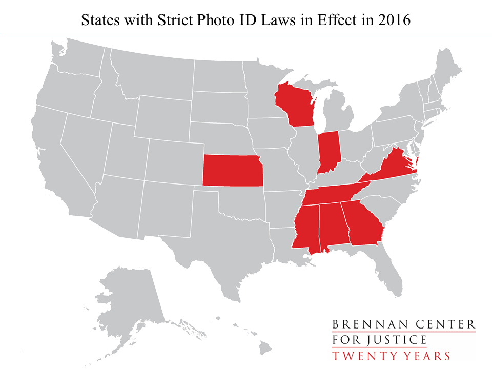 Election Restrictive Voting Laws By The Numbers Brennan - Map of voter id laws in the us