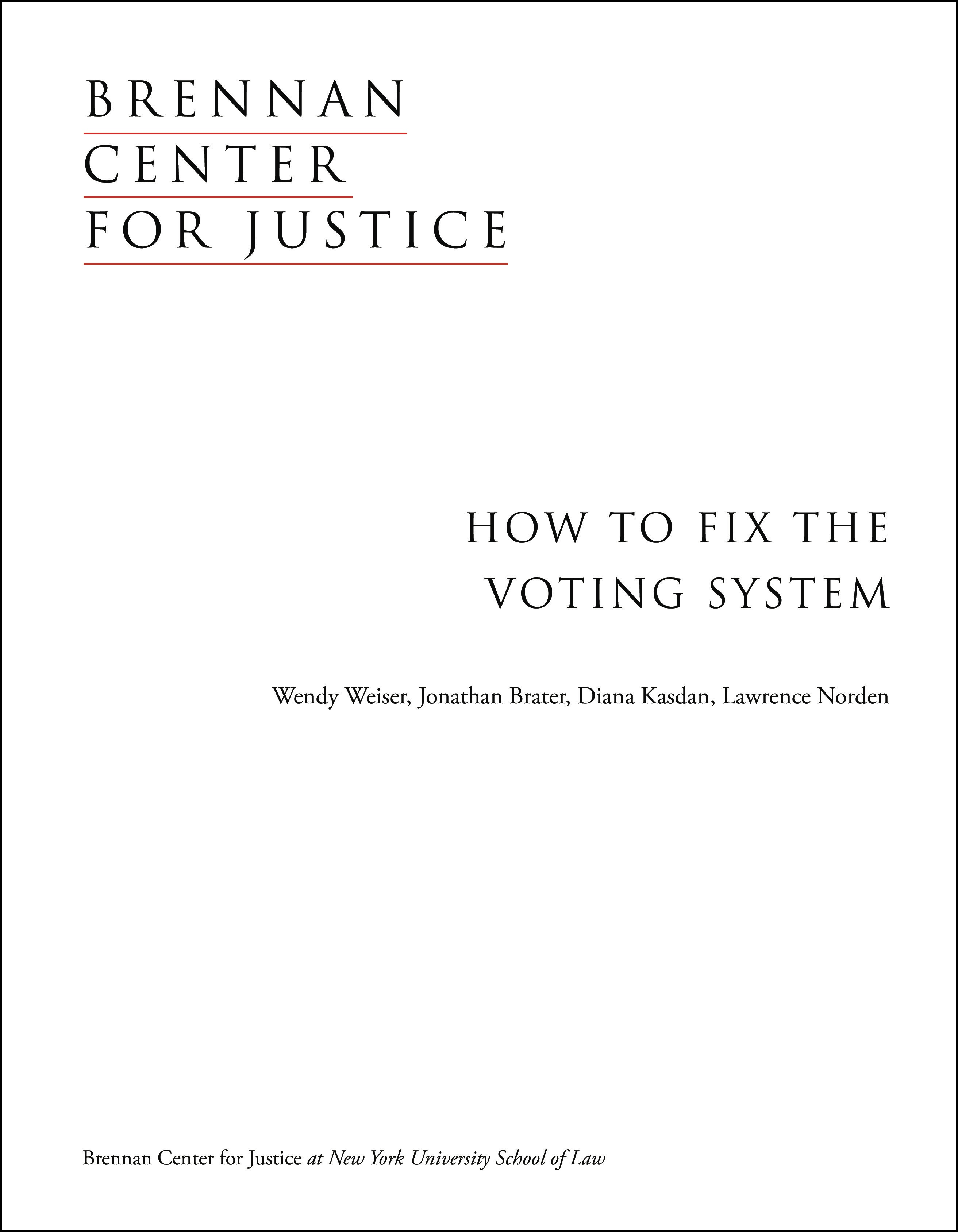 How to Fix the Voting System