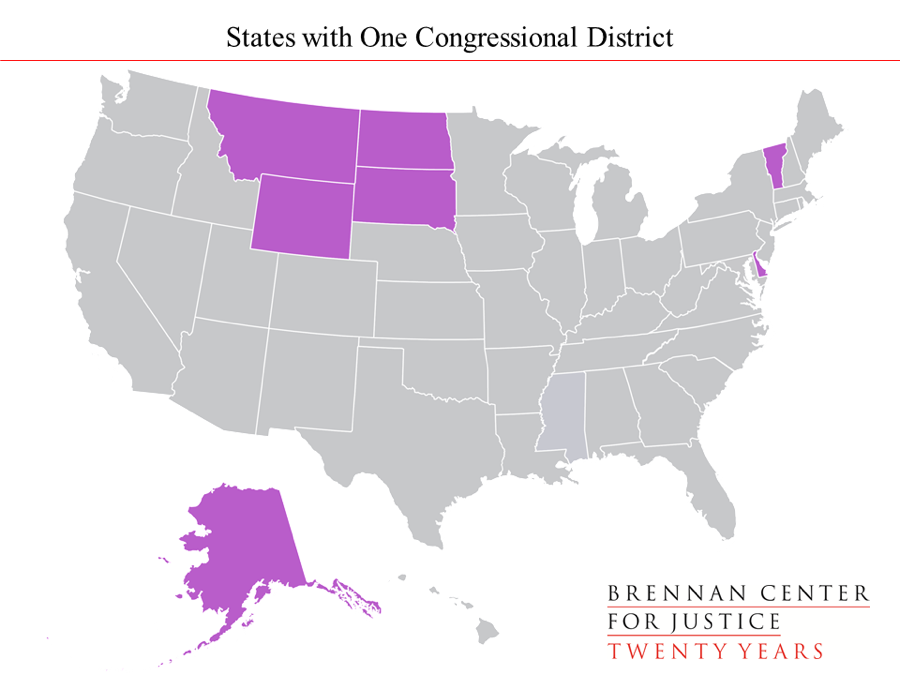 Seven States Currently Have Only One Congressional District