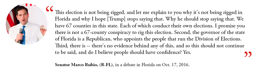 Senator Marco Rubio on Voter Fraud