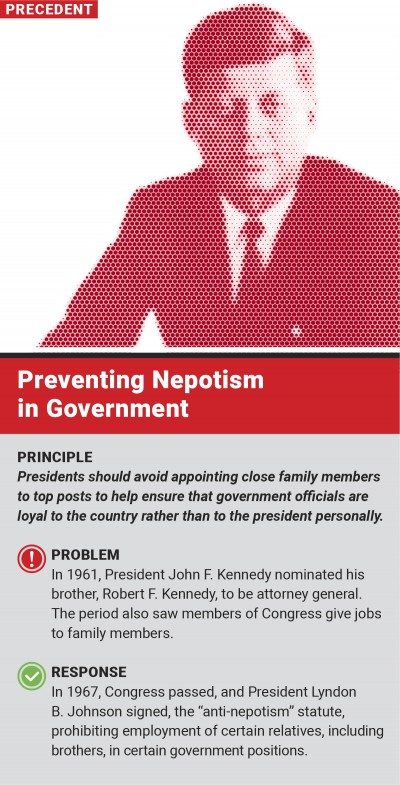 Preventing Nepotism in Govert