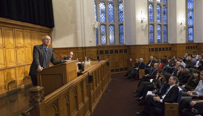 Justice Stephen Breyer at Jorde Symposium at Yale