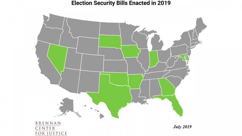 Election Security Bills Enacted in 2019
