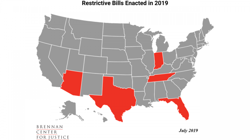 Restrictive Bills Enacted in 2019