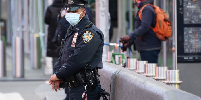 cop in mask