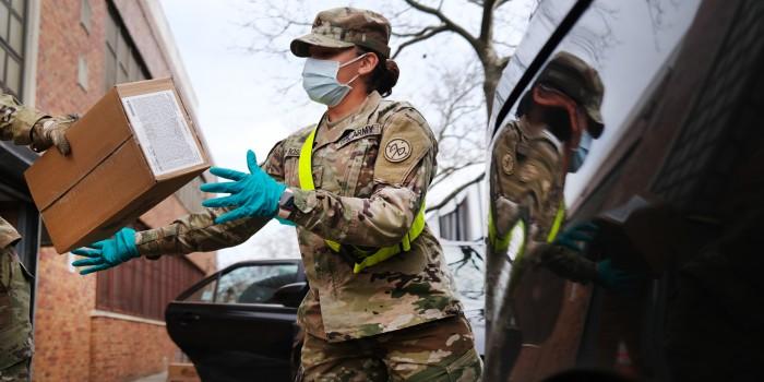 coronavirus testing military