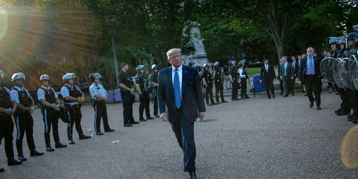 President Trump walking
