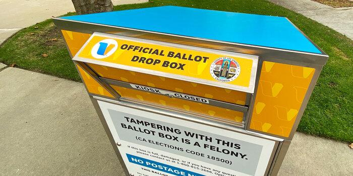 Secure drop box
