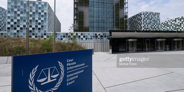 Exterior Views Of New International Criminal Court Building In The Hague.